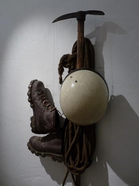 Kufstein alte Bergsteigerausrüstung