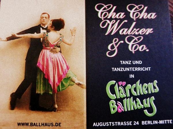 Tanzstunde Clärchens Ballhaus Berlin