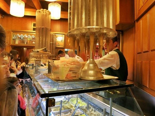 Eisdiele Giolitti Eis in Rom
