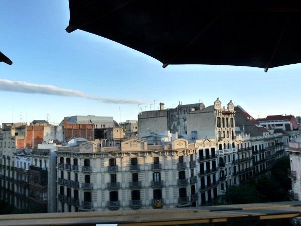 Barcelona Hotel Terrasse Aussicht