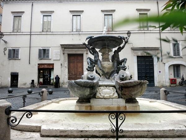 Tartarughe Fontana Jüdisches Viertel Ghetto ebraico Rom