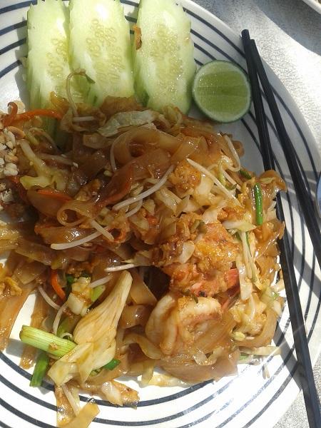 thailändische Küche Nudeln