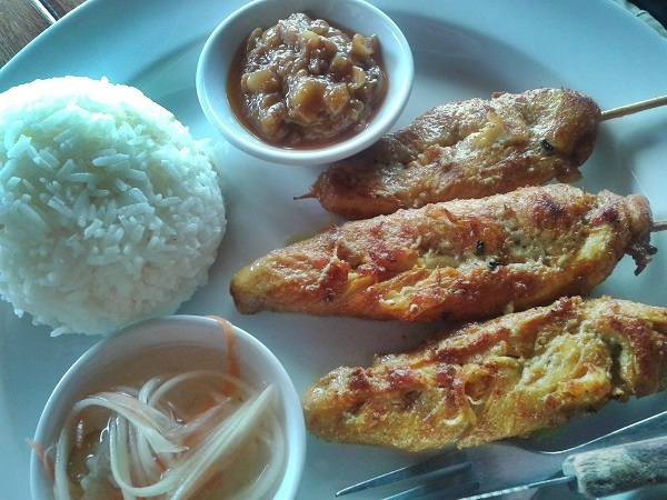 thailändische Küche hühnchen
