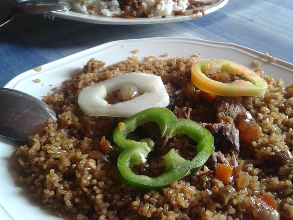 Dakar Senegal Traditionelles Reisgericht