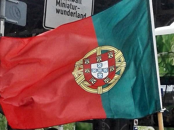 Hamburg Portugiesenviertel Flagge