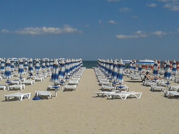 Goldstrand Albena  Schwarzes Meer Bulgarien  Strand