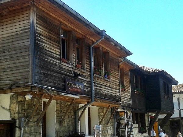 Nessebar Bulgarien Holzhäuser