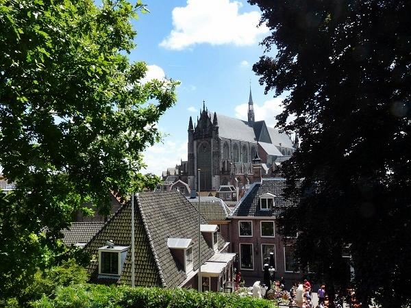 Leiden Aussicht vom Burgberg auf die Stadt