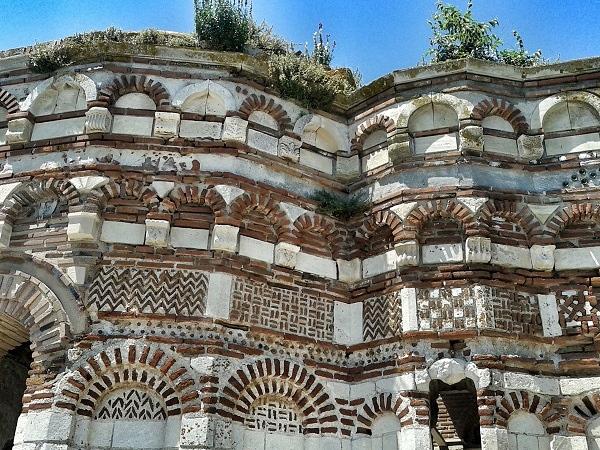 Nessebar Details der Johannes Aleiturgetos Kirche