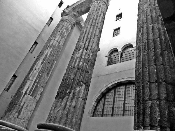 Museum Säulen des Augustustempels Barcelona Barcino