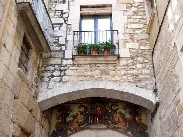 Girona Balkon Altstadt