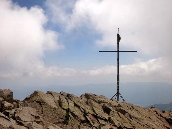 Montseny Gipfelkreuz les Agudes