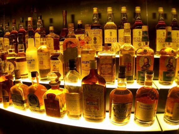 Whisky Scotch Sammlung Edinburgh