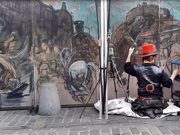 Edinburgh Fringe Festival maler
