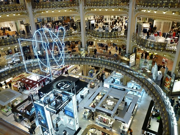 Grands magasins Galerie Lafayette Paris