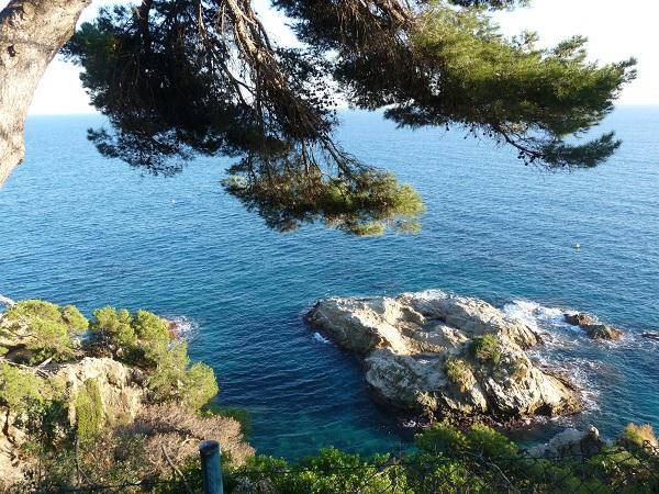 Aussicht Jardi Santa clotilde lloret de Mar