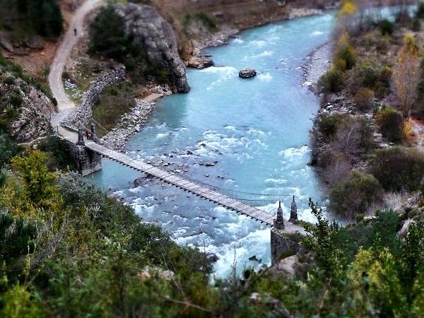 Brücke nach Jánovas - verlassene Dörfer