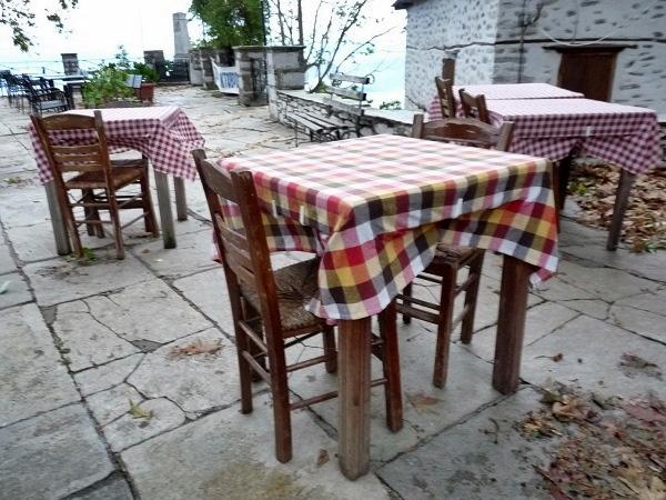 Griechenland Pelion Makrinitsa Terrasse