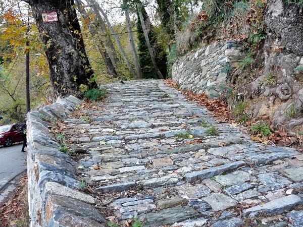 Griechenland Pelion Makrinitsa Weg