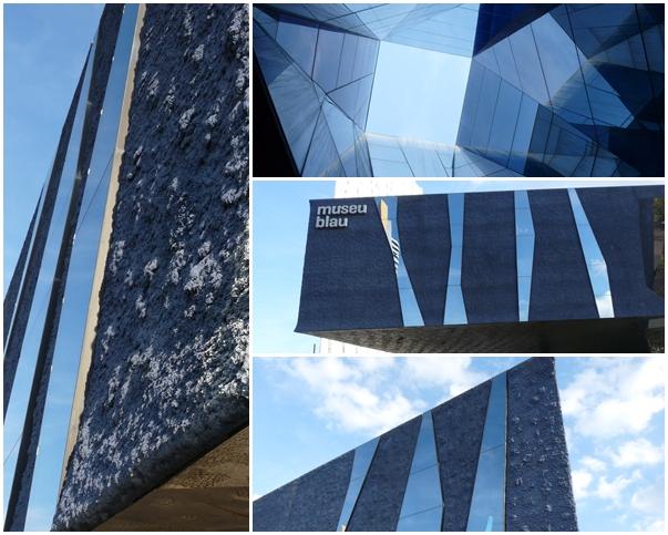 Museu blau Barcelona Architektur