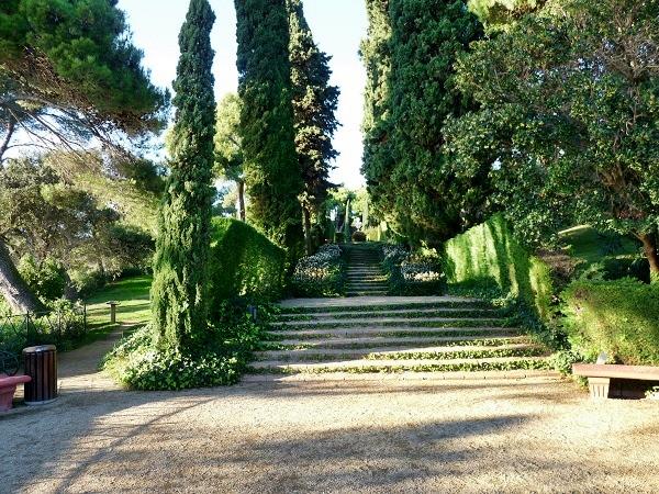 Park Santa Clotilde im Noucentisme Stil
