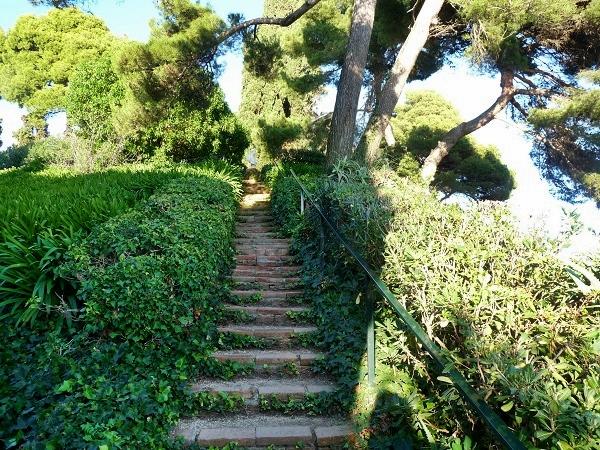 Treppen im Garten Lloret