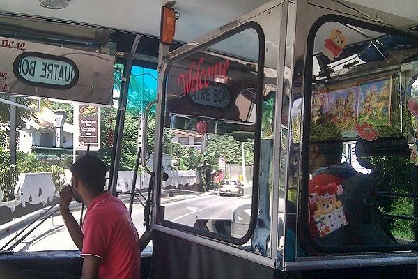 Mauritius im Bus
