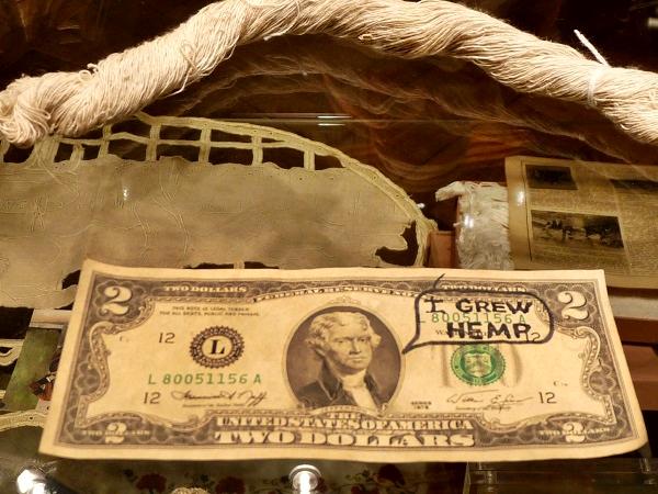 Papier aus Hanf Dollarnote Hanfmuseum Barcelona