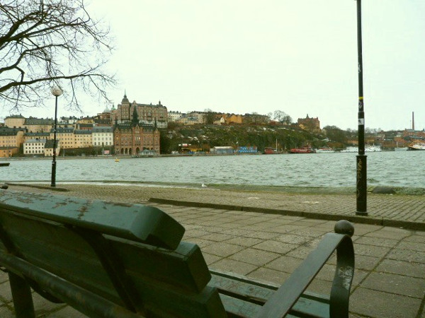 Am Ufer Gamla Stan Stockholm