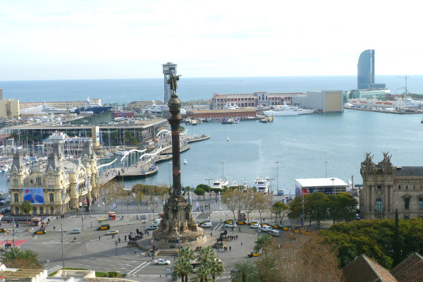 Aussicht auf Hafen Barcelona