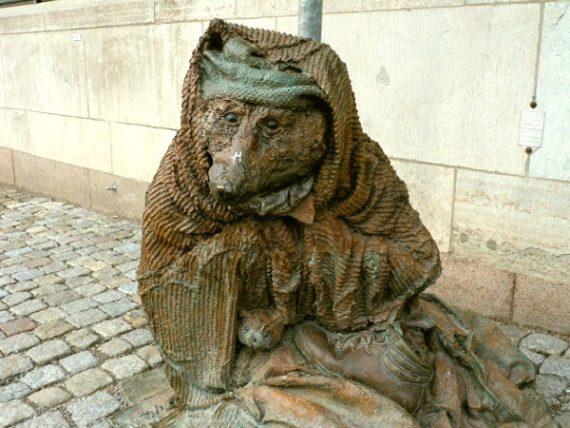 Der Obdachlose Fuchs Altstadt Stockholm