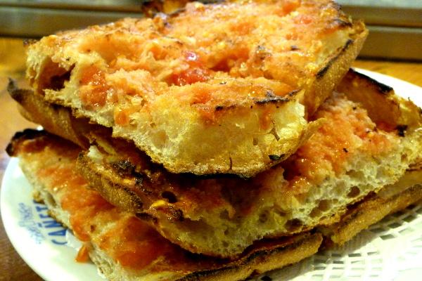 Tapas Barcelona Pan con tomate