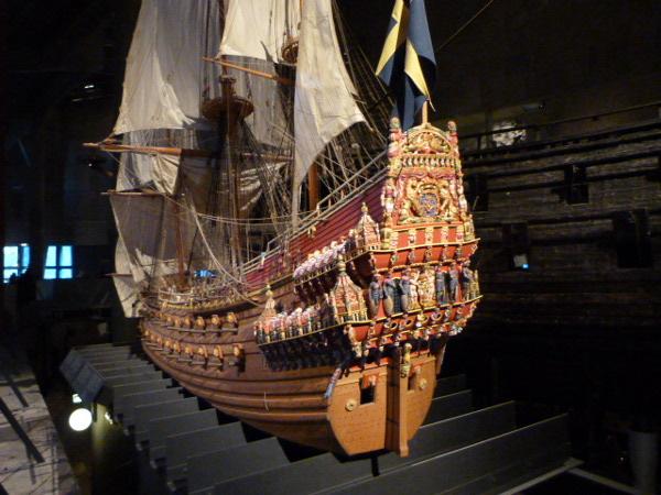 Vasa Modell im Museum Stockholm