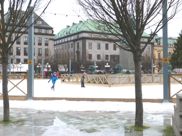 eis laufen Schlittschuh Stockholm