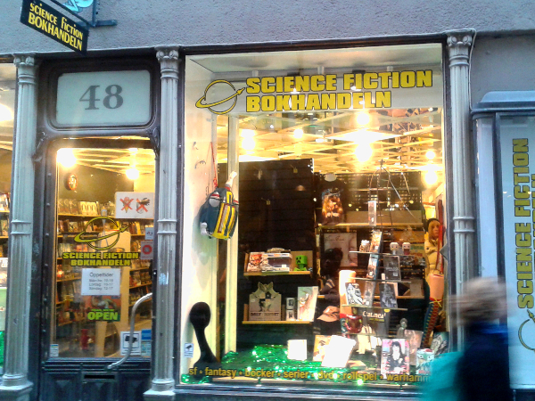 science fiction book shop Gamla stan