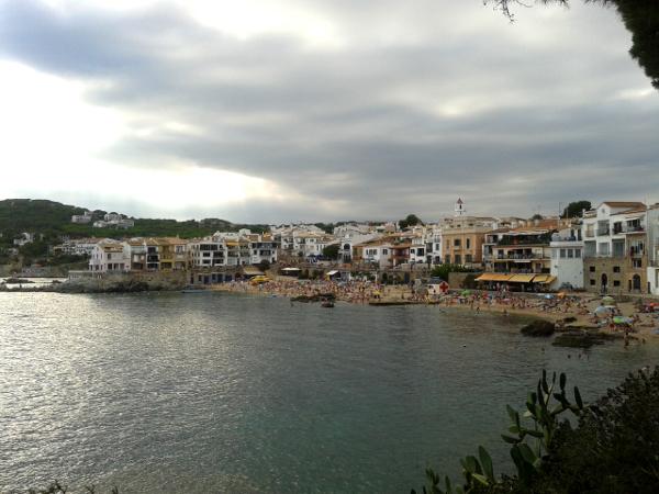 Calella Palafrugell im Sommer