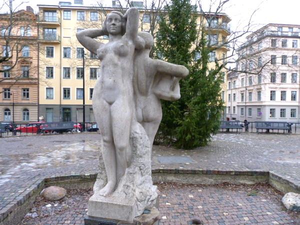 Die Schwestern Stockholm Skulptur