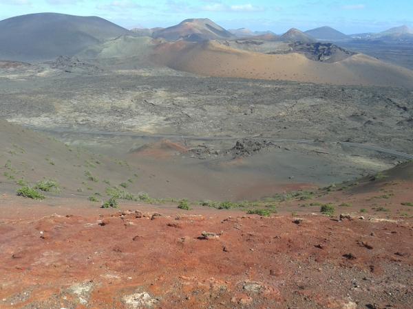 Krater Vulkan Timanfayo Lanzaarote