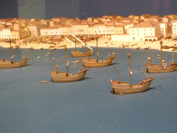Modell Hafen Barcelona