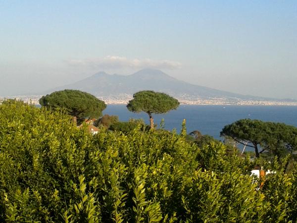 Neapel Blick auf Vesuv Posillipo