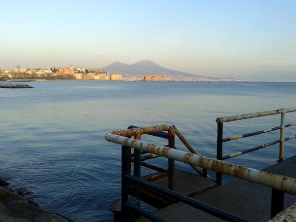 Neapel Blick auf Vesuv