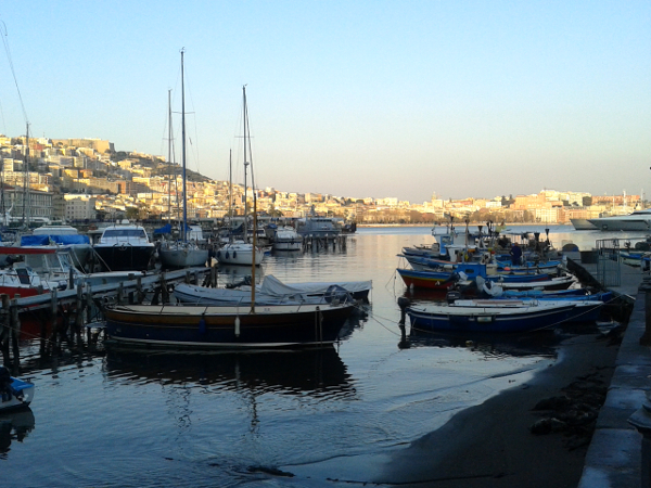 Neapel Sonnenuntergang Hafen