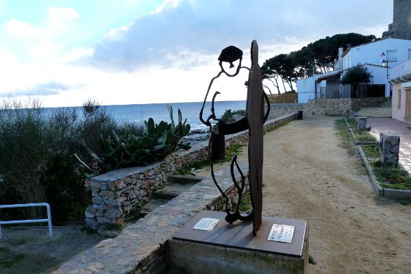 typische Statue Palafrugell