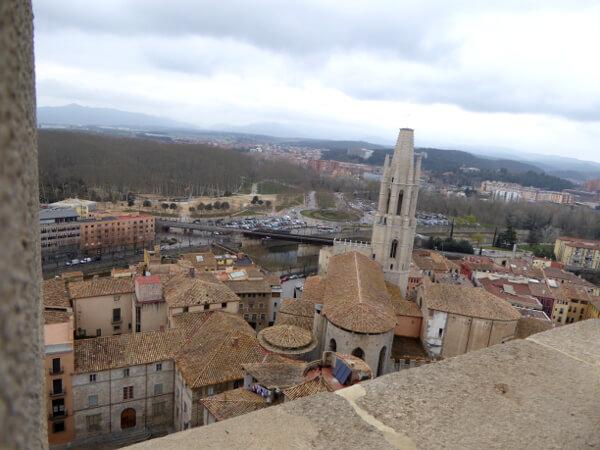 Aussicht Kathedrale Girona Dach
