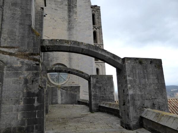 Bögen Dach der Kathedrale Girona