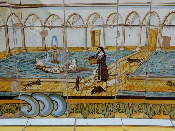 Bank Kloster Santa Chiara Neapel