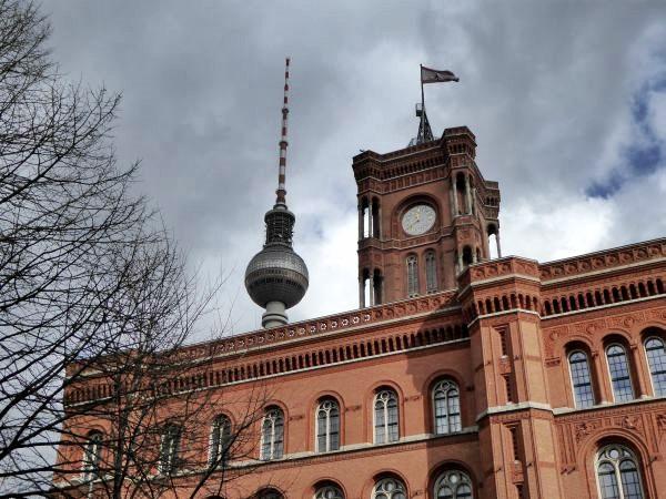 Berlin Mitte Rathaus Fernsehturm