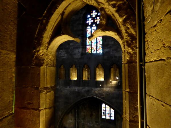 Gang Oben Kathedrale girona