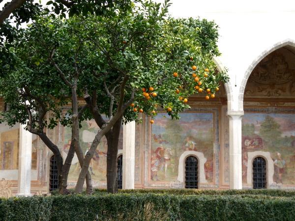 Klostergarten Santa Chiara Neapel