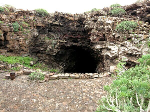 Lanzarote Eingang cueva de los verdes